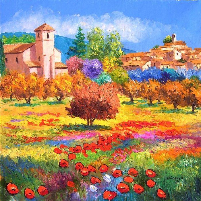 Jean Marc Janiaczyk 1966 | French realista / impresionistické Knife malíř | Dreaming of Provence