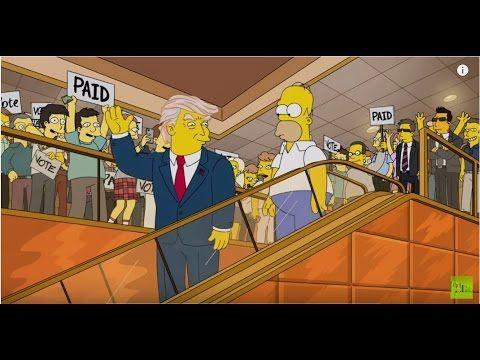 Simpsons Donald Trump 2000 vs Trump escalator entrance 2015 - Pure Politics