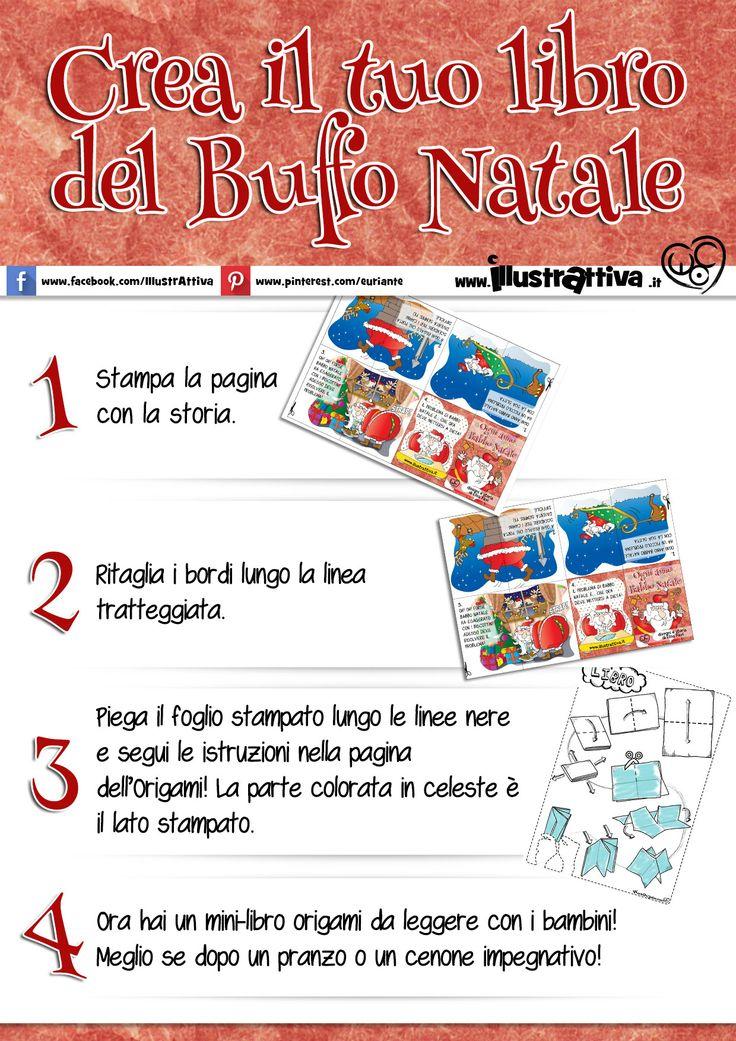 Ti è piaciuta la Storia a episodi di Babbo #Natale? Fanne un originale #biglietto di #auguri! Ecco le istruzioni per costruire il tuo mini-libro #origami!