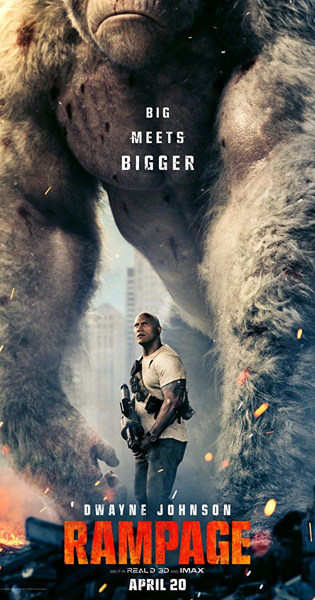 Directed by Brad Peyton.  With Jeffrey Dean Morgan, Dwayne Johnson, Joe Manganiello, Malin Akerman. Based on the classic 1980s video game featuring apes and monsters destroying cities.
