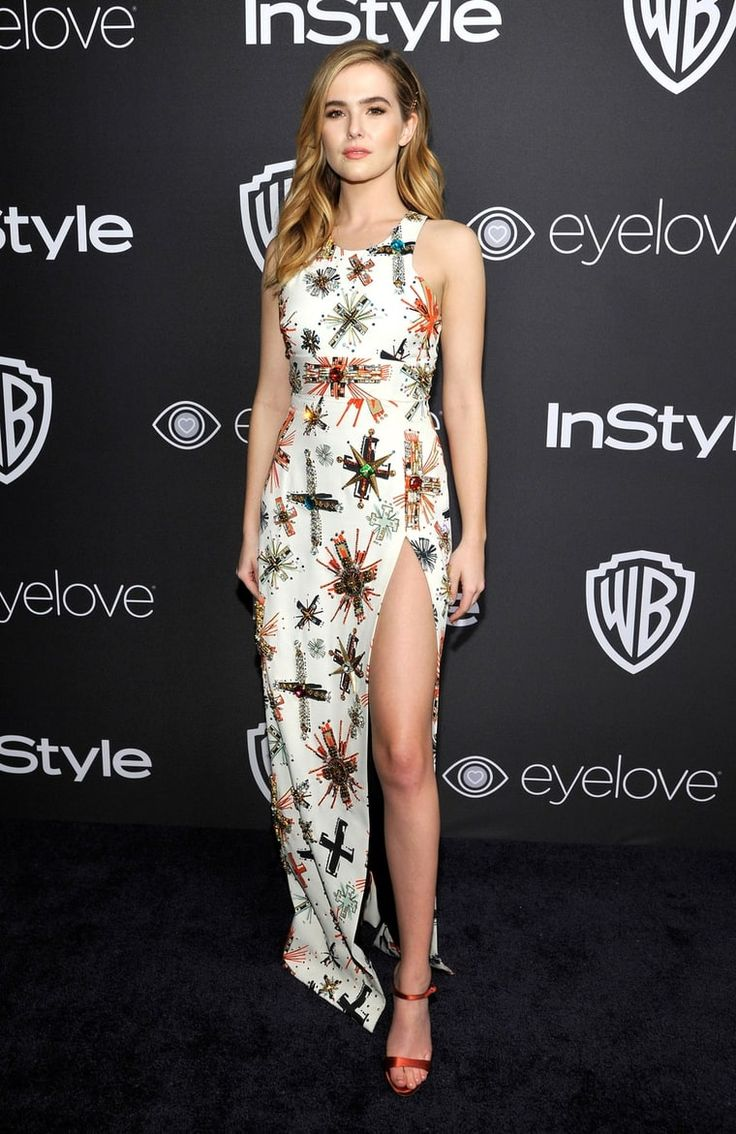 Zoey Deutch in embellished Fausto Puglisi