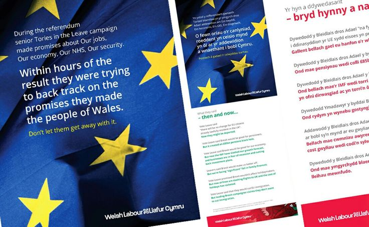 Bilingual 4pg A5 mailer welsh/english.