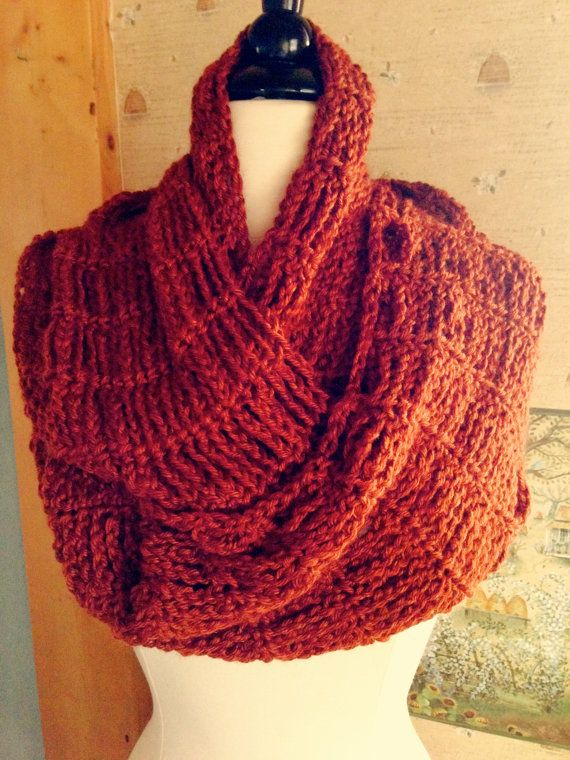Knitting Pattern For Chain Link Scarf : Cinnamon Girl Infinity Cowl Chain Link Style Crochet PDF PATTERN Chain link...