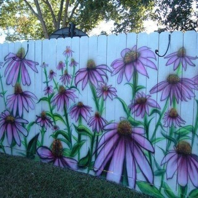 Backyard Painted Fencing Ideas