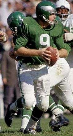 Sonny Jurgensen # 9 Philadelphia Eagles QB threw 100+ more TD passes for the 'skins than for the Iggles. HTTR