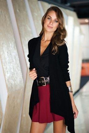 Temel Parçalar - Kadın Tekstil - Siyah Hırka 1005971 %57 indirimle 29,99TL ile Trendyol da