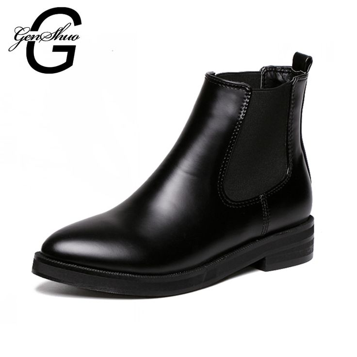 New Women Shoes Botas Hot 2016 Autumn Winter Botte Femme Black Chelsea Martin Boots Ankle Booties Zapatos Botas Mujer-in Women's Boots from Shoes on Aliexpress.com | Alibaba Group