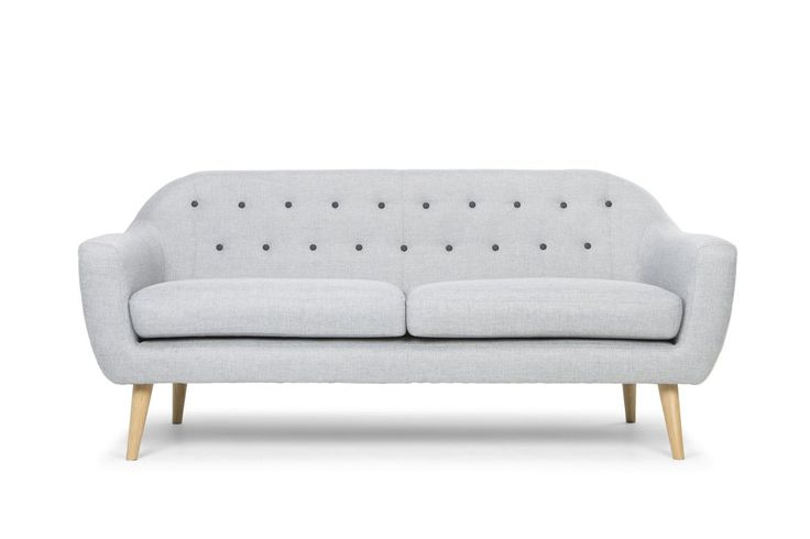 Curvaceous 3 Seater Lounge (White/Grey) - FREE SHIPPING AUSTRALIA WIDE