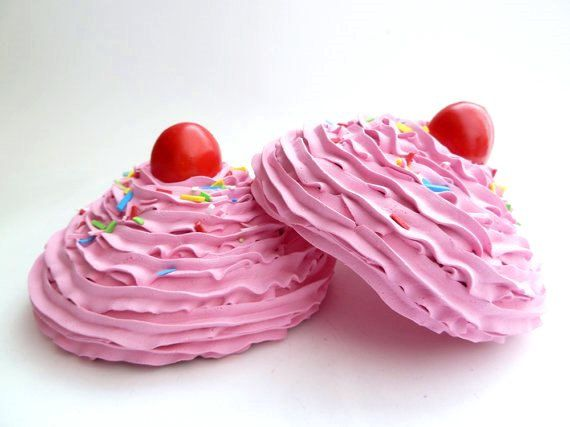 KATY PERRY BRA set of 2 oversize fake cupcake frosting by shimrita, $33.99