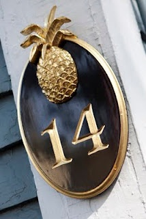 pineapple house number - chatham sign company