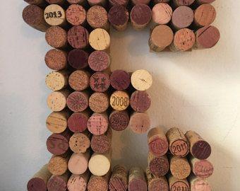 Letras de corcho del vino PERSONALIZADO  por beachcottagelane