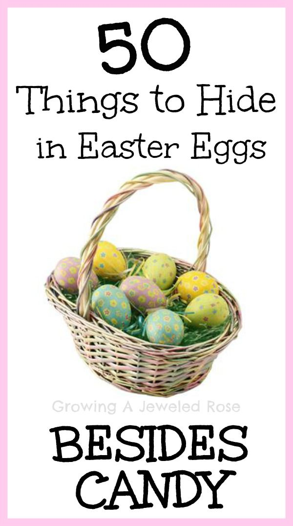 50 FUN Things to hide in Easter Eggs other than candy!