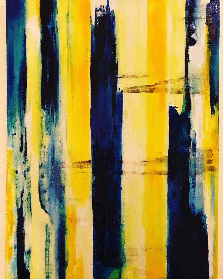 """VEINS/ 30""""x40""""/#art #yellow #blue #abstract"""