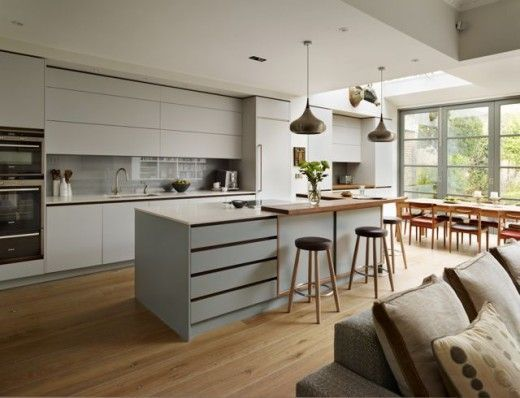Kitchen extension with room for dining table.