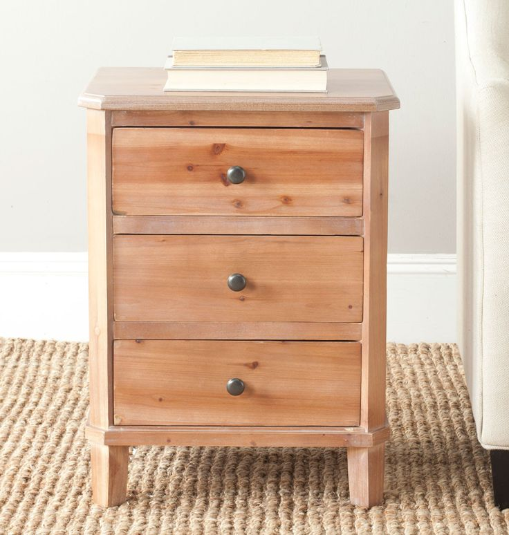 Joe End Table With Storage Drawers AMH6629C