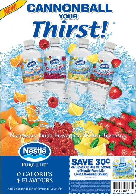 """#NesteWaters """"Cannonball Your Thirst"""" Ad Campaign"""