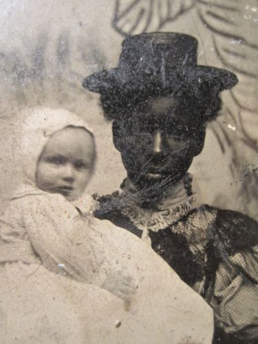Antique Victorian African American Nanny Baby Girl