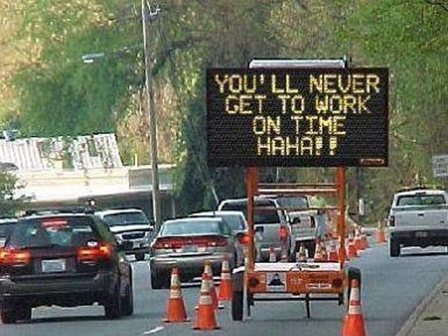 This hilarious compilation of Hacked Digital Road Signs will make your day! #lol Click on the pic to see them all...
