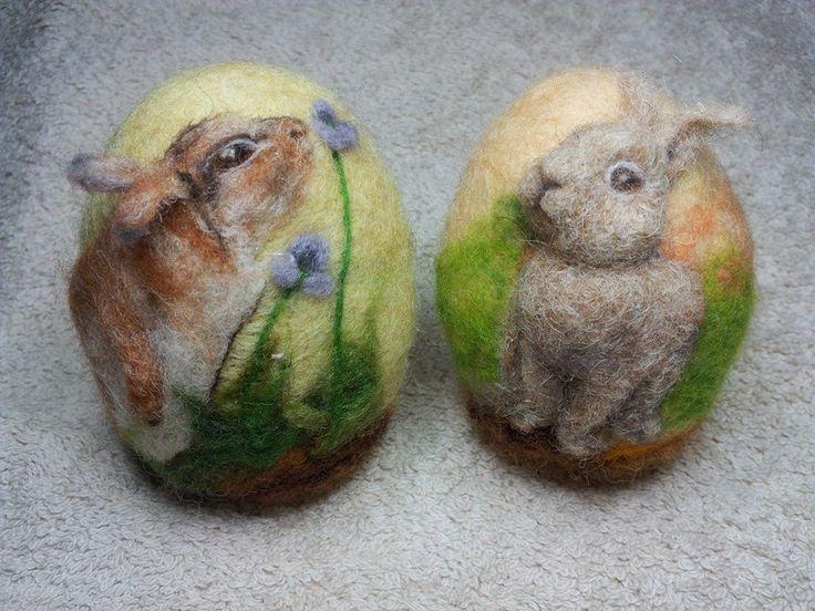 Felted Easter Egg: WoollyBirdsAndFairy March 2015