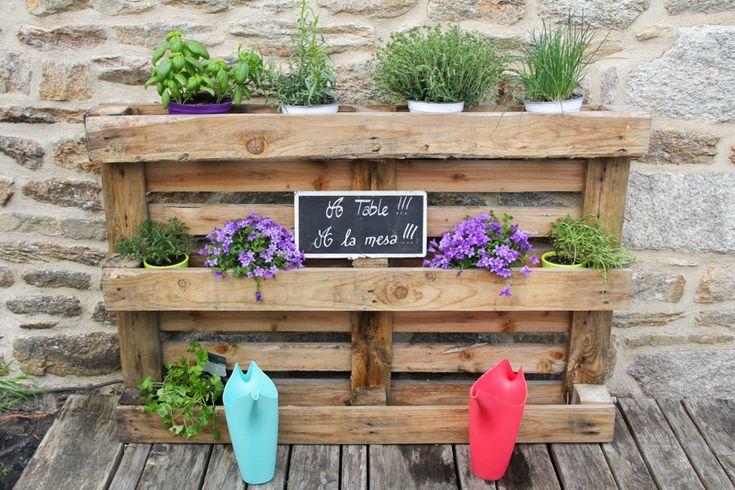 DIY 100% récup : palette jardinière (via wonderfulbreizh.fr)