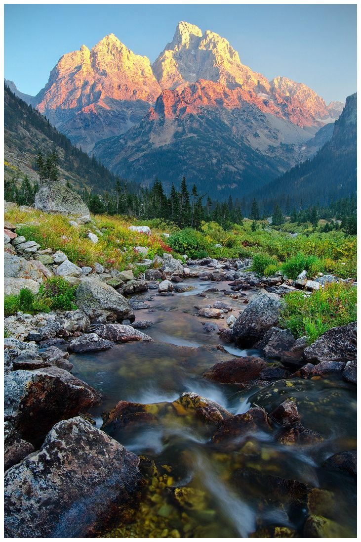 landscapelifescape:  North Fork Cascade Canyon - Grand Teton National Park, Wyoming, USA Where Heaven and Earth Collide by wyorev