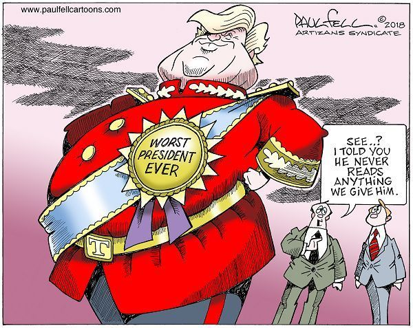 Image result for trump worst president ever cartoon