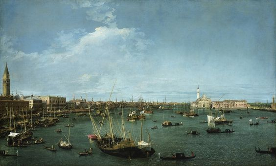 Bacino di San Marco Canaletto 1738  olio su tela   Museum of Fine Arts, Boston