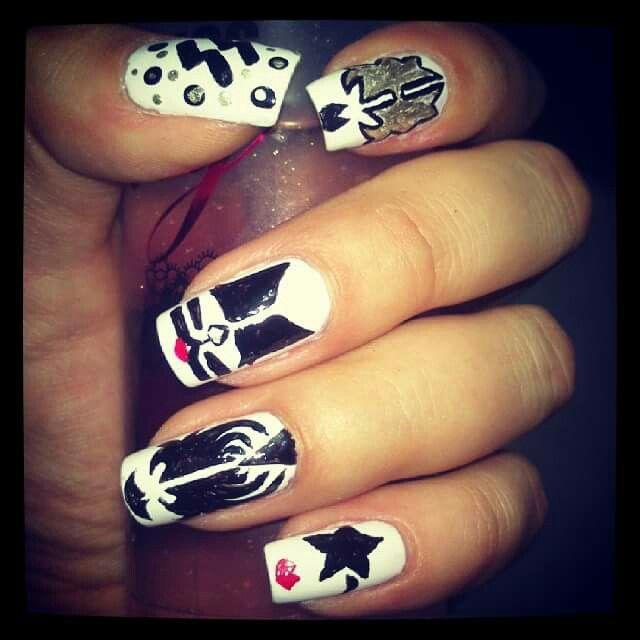 #kiss #band #nails #nailart