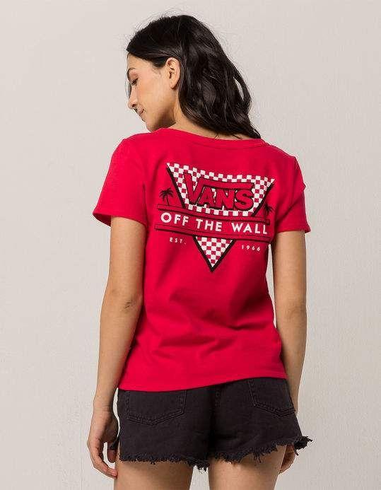 e49751cd20 VANS Skimmer Checker Red Womens Tee
