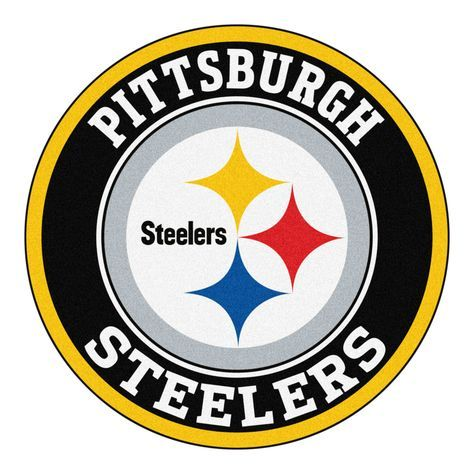 """For all those NFL fans out there, these 27"""" round rugs featuring the Pittsburgh Steelers logo and colors look great in any man cave, game room, or anywhere esle in the house, even in the parking lot w"""