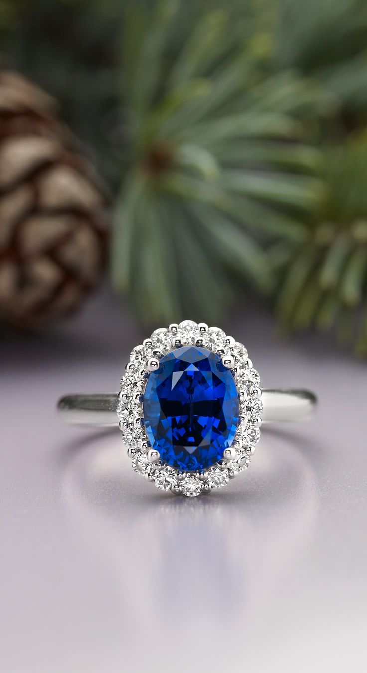 Unique beauty. Explore our collection of sapphire diamond engagement rings now!