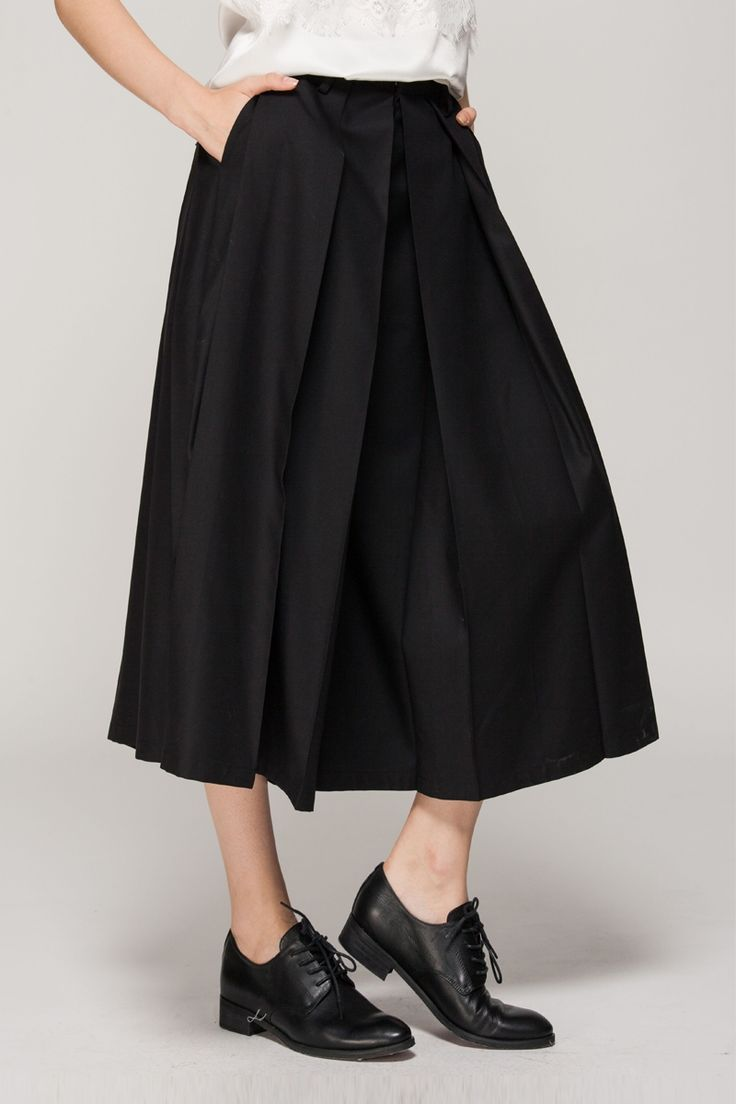 pleated culottes.