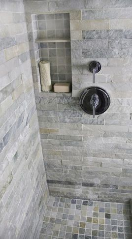Bathroom tile shower I love it