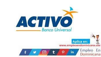 Vacante de empleo en Banco Activo