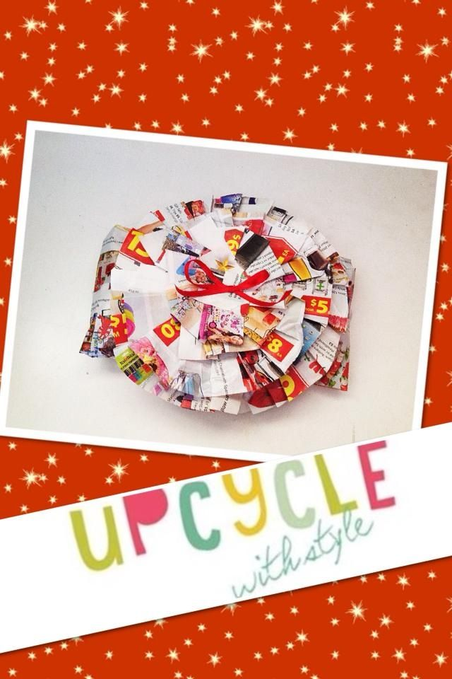 Recycled gift wrap idea