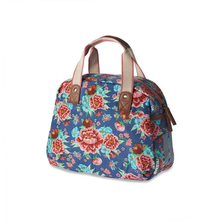 Basil Basil Bloom Kids Carry All - bicycle bag - 11L - Indigo blue with flowers