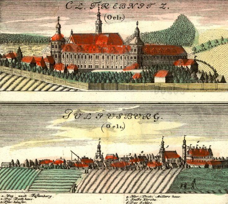 Trzebnica (Trebnitz) i Dobroszyce (Juliusburg) - Rok 1737