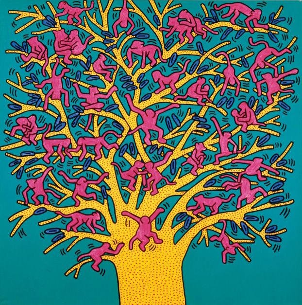 Keith Haring - The Tree of Monkeys (Fondazione Orsi / 1984)