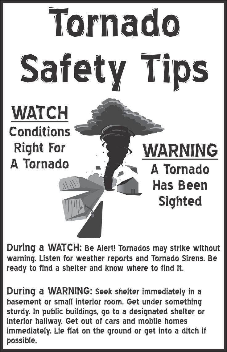 Easy difference between tornado watch and warning.