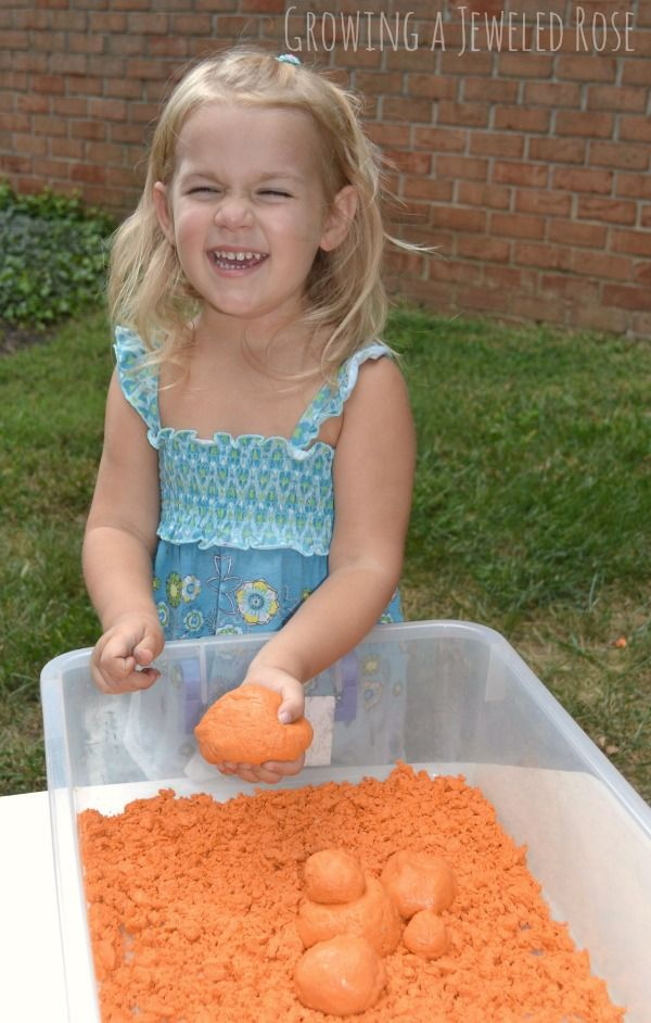 Pumpkin Moon Sand Play Recipe Perfect for Fall
