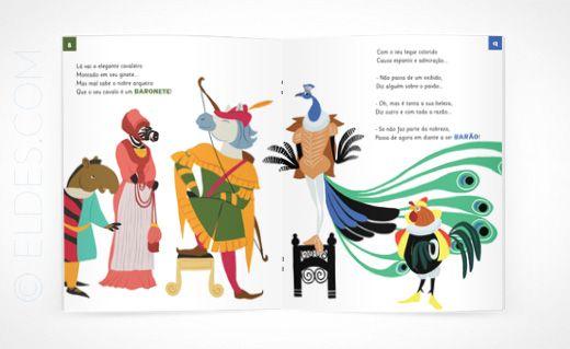 © Eldes.com - LIVRO INFANTIL | Poeminhas Reais. Ilustração do baronete e do barão. #childrensbook #illustration