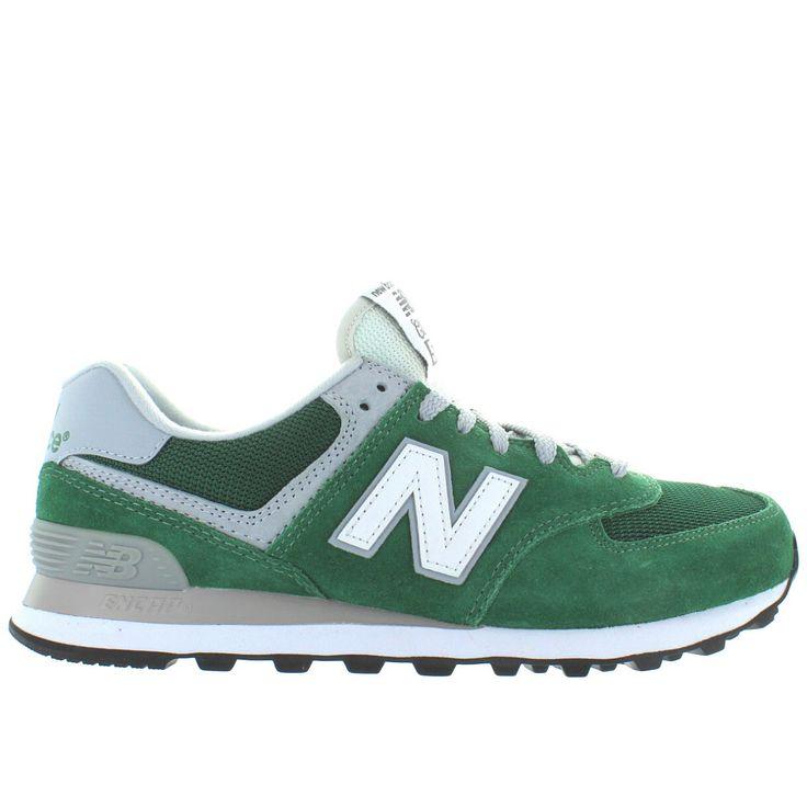 ... New Balance 574 - Green Suede/Mesh Running Sneaker