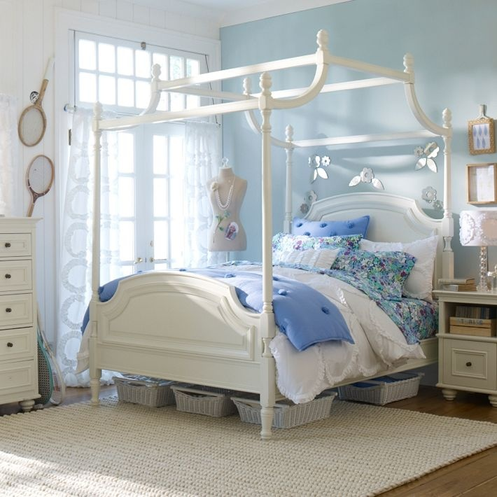 PB Teen Coraline Canopy Bed and Dress Form