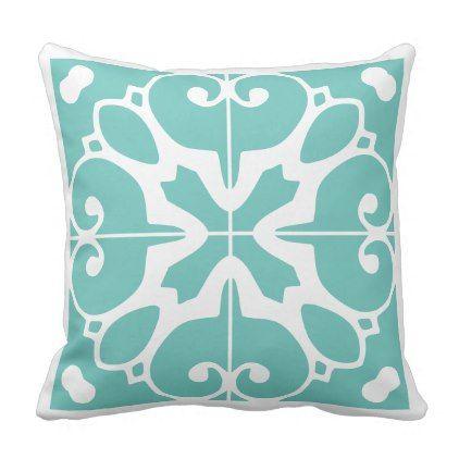 Southwestern Tile Design Throw Pillow - decor gifts diy home & living cyo giftidea