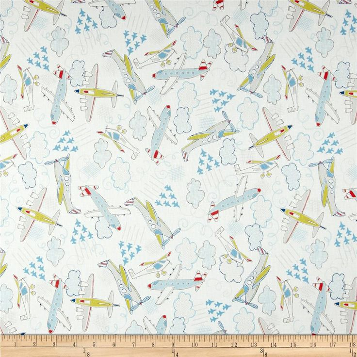 71 best pebbles nursery fabrics images on pinterest nursery fabric take flight airplanes white from fabricdotcom designed by vita mechanachonis for camelot fabrics this gumiabroncs Image collections