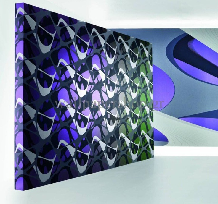 Wallpapers :: Modern :: Zaha Hadid Elastika Flow Silver No 1332 - WallpaperShop