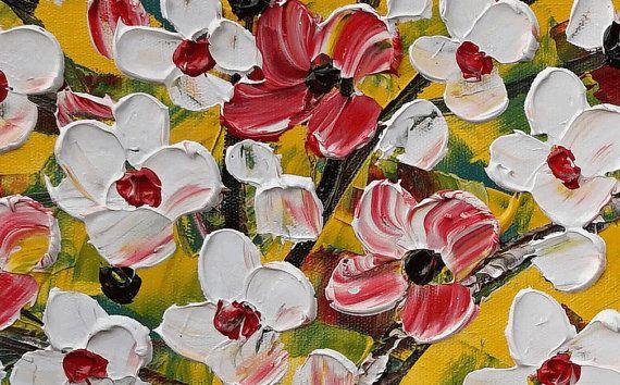 XL gran pintura lienzo arte enmarcado Original arte por Topart007
