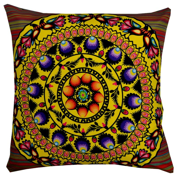 Designer decorative Folk pillow № gd407