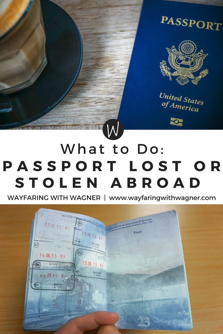 Was your passport lost or stolen abroad during your travels? Don't worry - this post has American citizens covered on what to do when a passport is stolen or lost abroad and how to prepare yourself! Passport | Wayfaring With Wagner | European Travels | Travel Tips | Practical Travel Advice #traveltips #passport