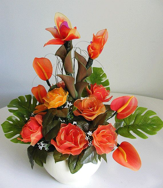 Handmade Red Roses  Arrangement by LiYunFlora on Etsy, $40.00